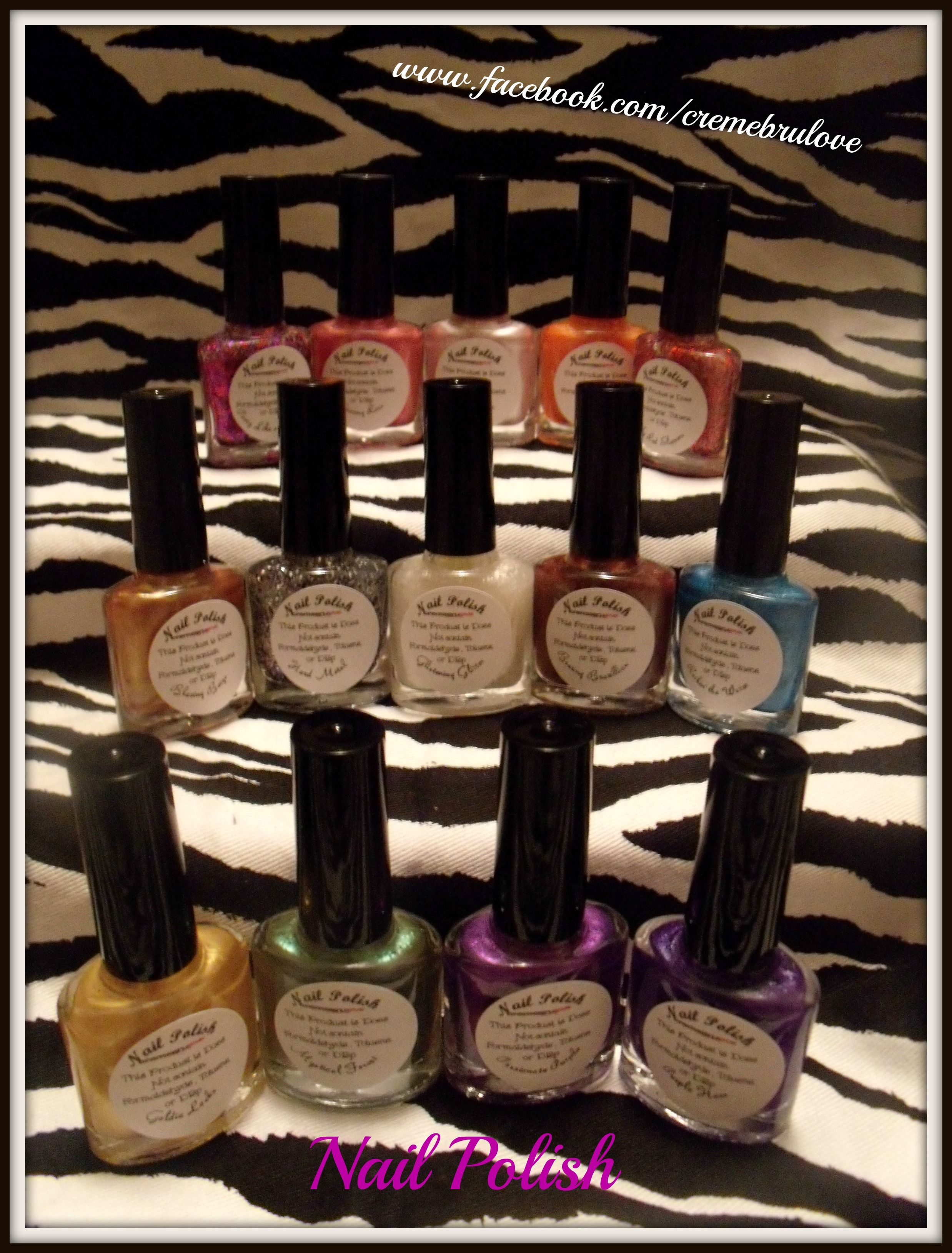 3 free nail Polish (Does not contain Formaldehyde , Toluene, or DBP ...