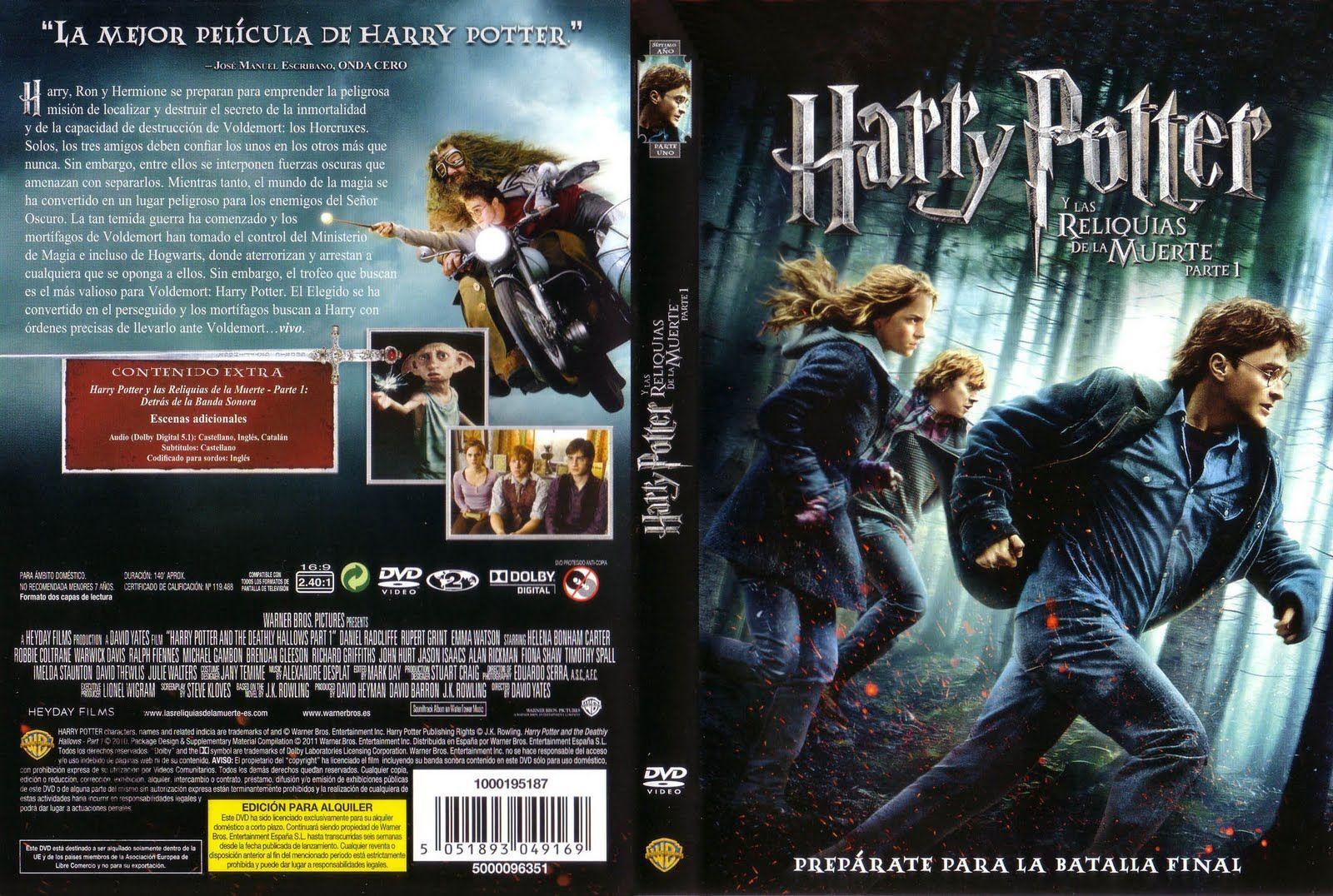 Harry Potter Y Las Reliquias De La Muerte Parte 1 Caratula Peliculas De Harry Potter Harry Potter Peliculas Mejores