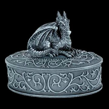 Legendary Dragon of Protection Claw Footed Sculptural Trinket Box