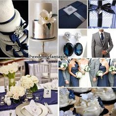 Dark Blue And White Wedding Theme Google Search Navy Weddingssilver