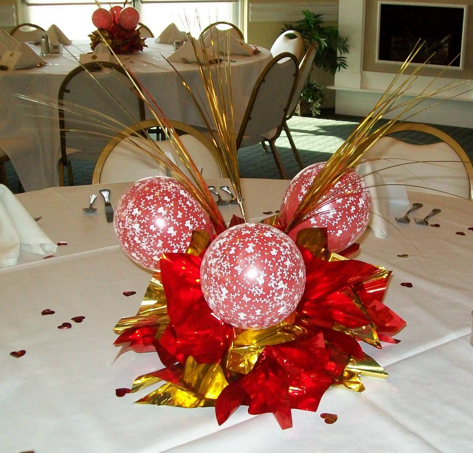 Wedding decorations red  Carmenweddingredandgoldcenterpieceg  Inspirations