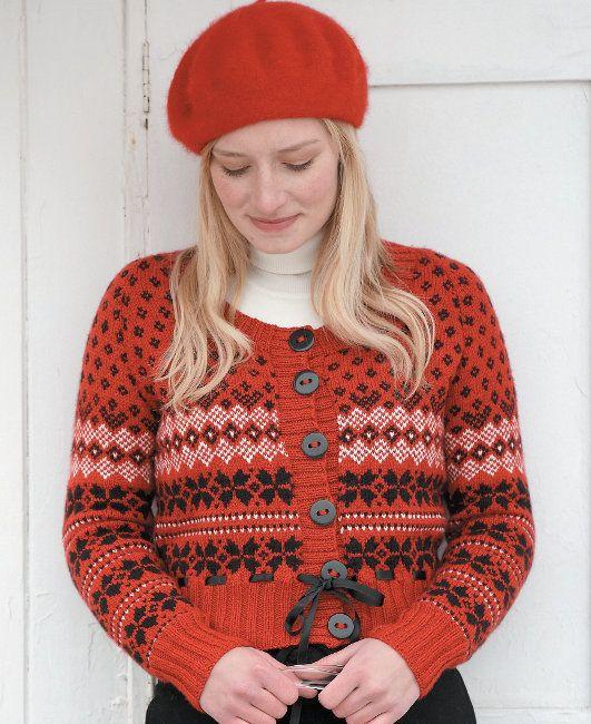 Free knitting pattern Snowflake Cardigan by Martin Storey