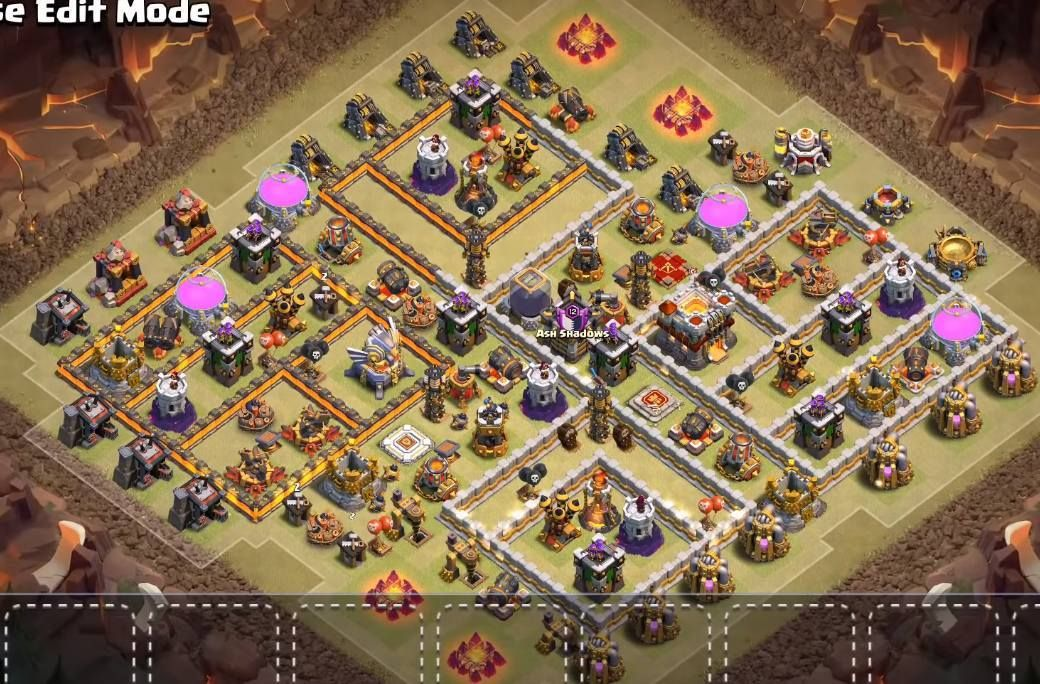 Base Coc Th 11 War 3