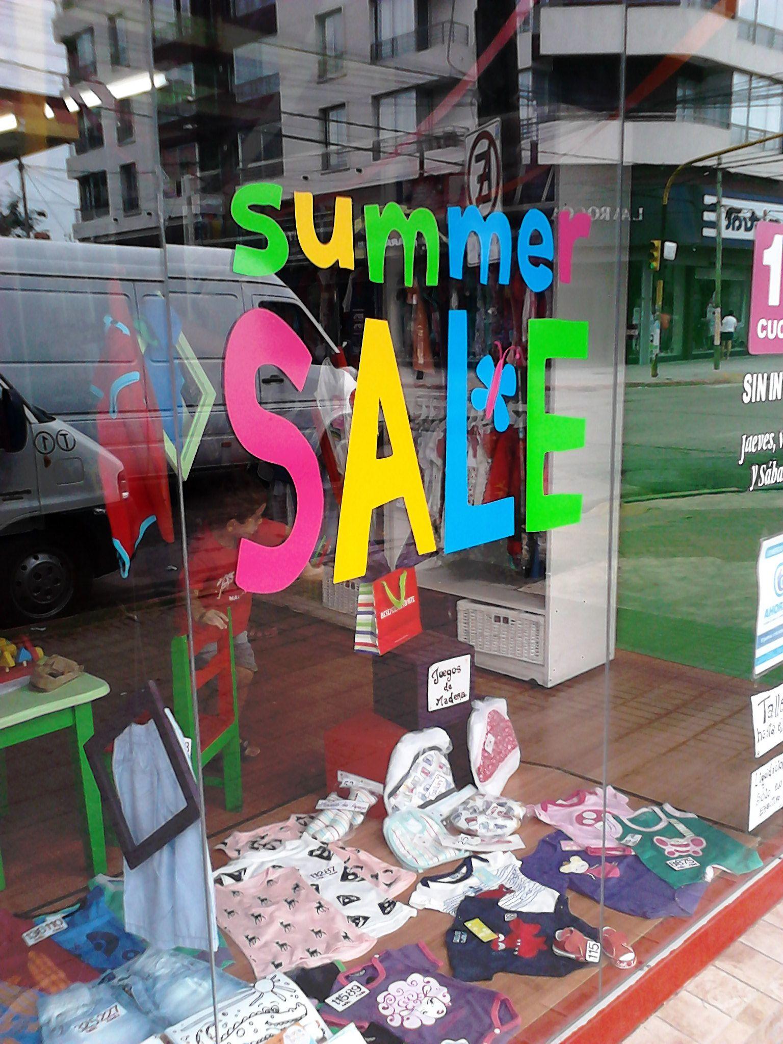"Gráfica ""summer SALE"" , para Local indumentaria infantil"