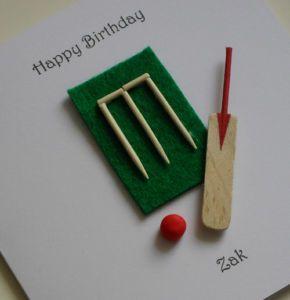 Cricket Card Idea Cards Handmade Cricket Crafts Happy 25th Birthday