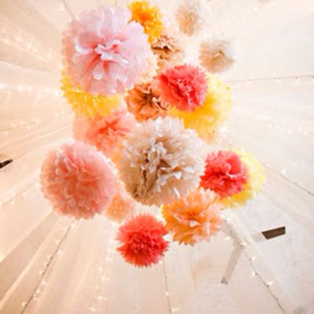 decorating with poms