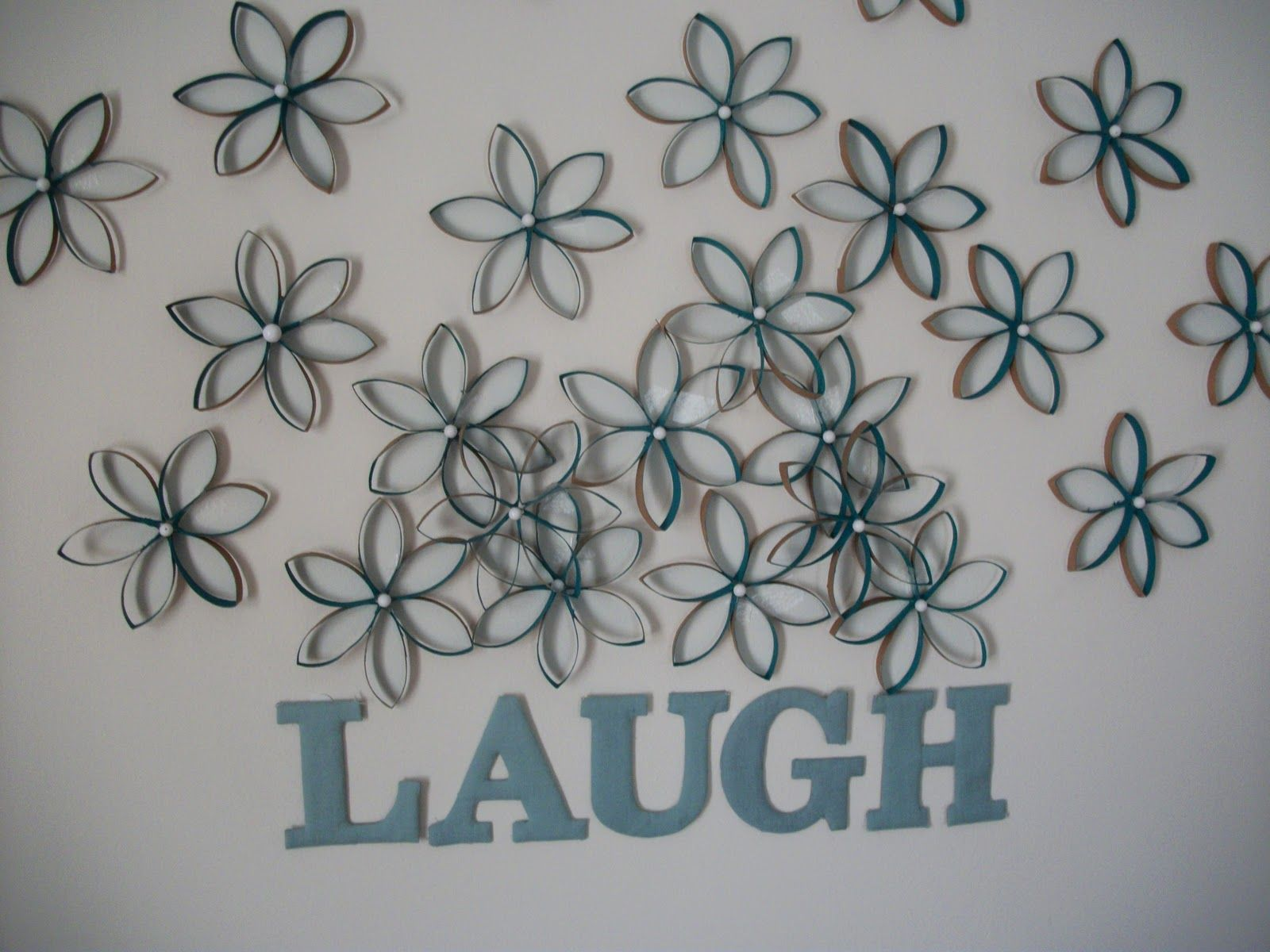 Toilet Paper Roll Flowers Wall Art Step 7 Put Them Up On Your