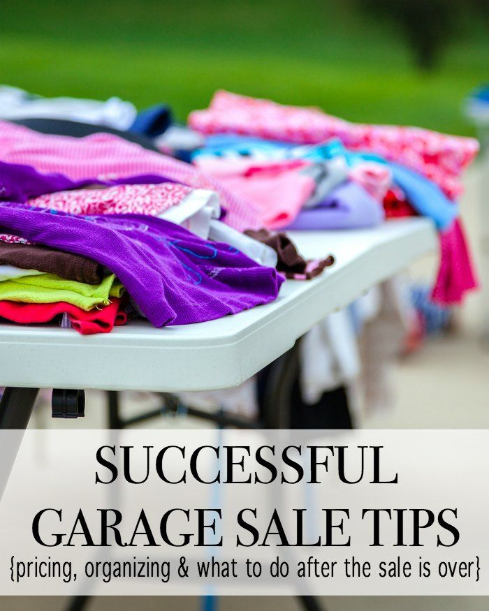 Tips For Determining The Right Size Home For You: Successful Garage Sale Tips