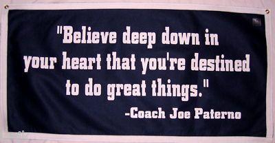 Penn State Nittany Lions Football Joe Paterno Banner Quote Banner Joe Paterno Paterno