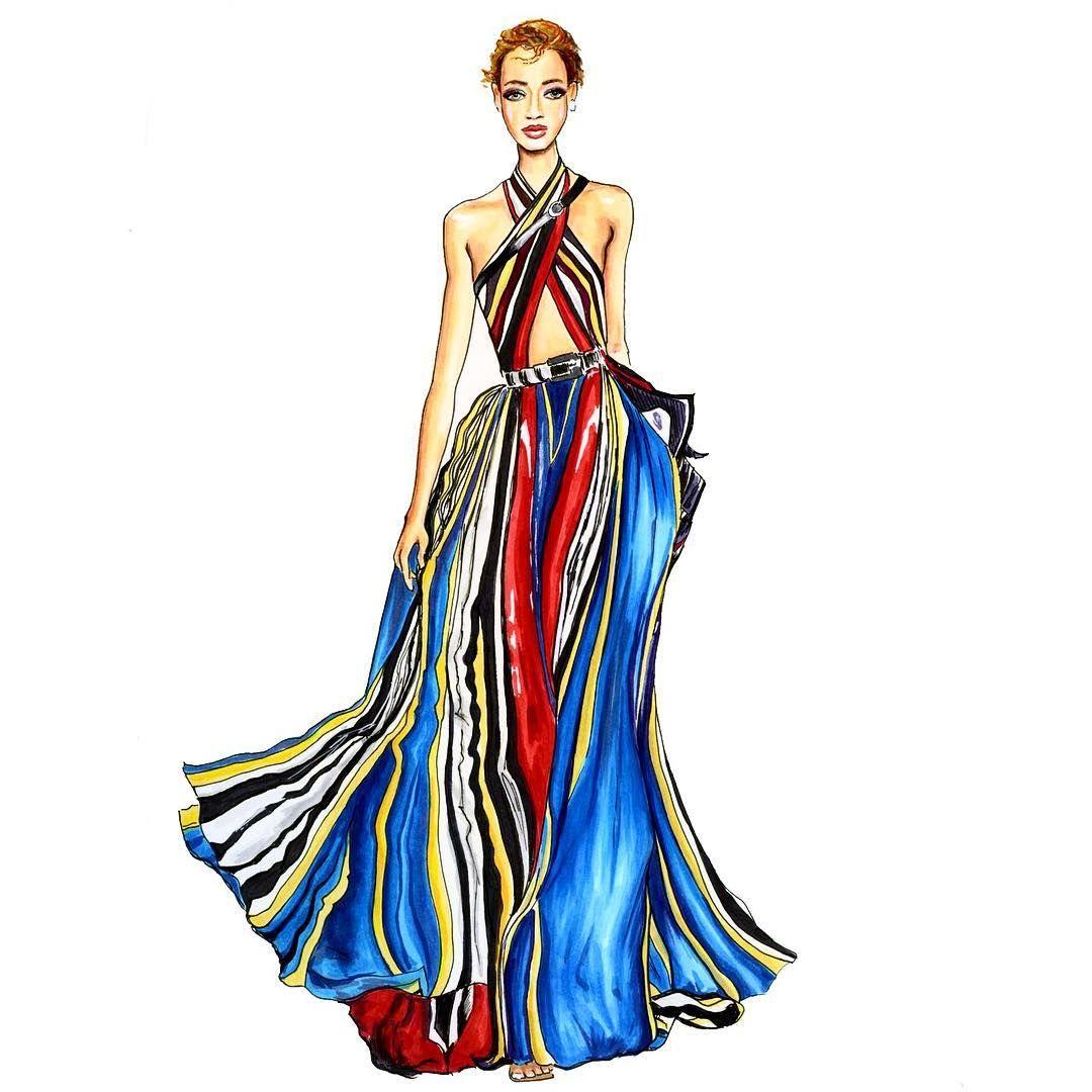 Вот этой девочкой в платье @elliesaaab я прям немного ...