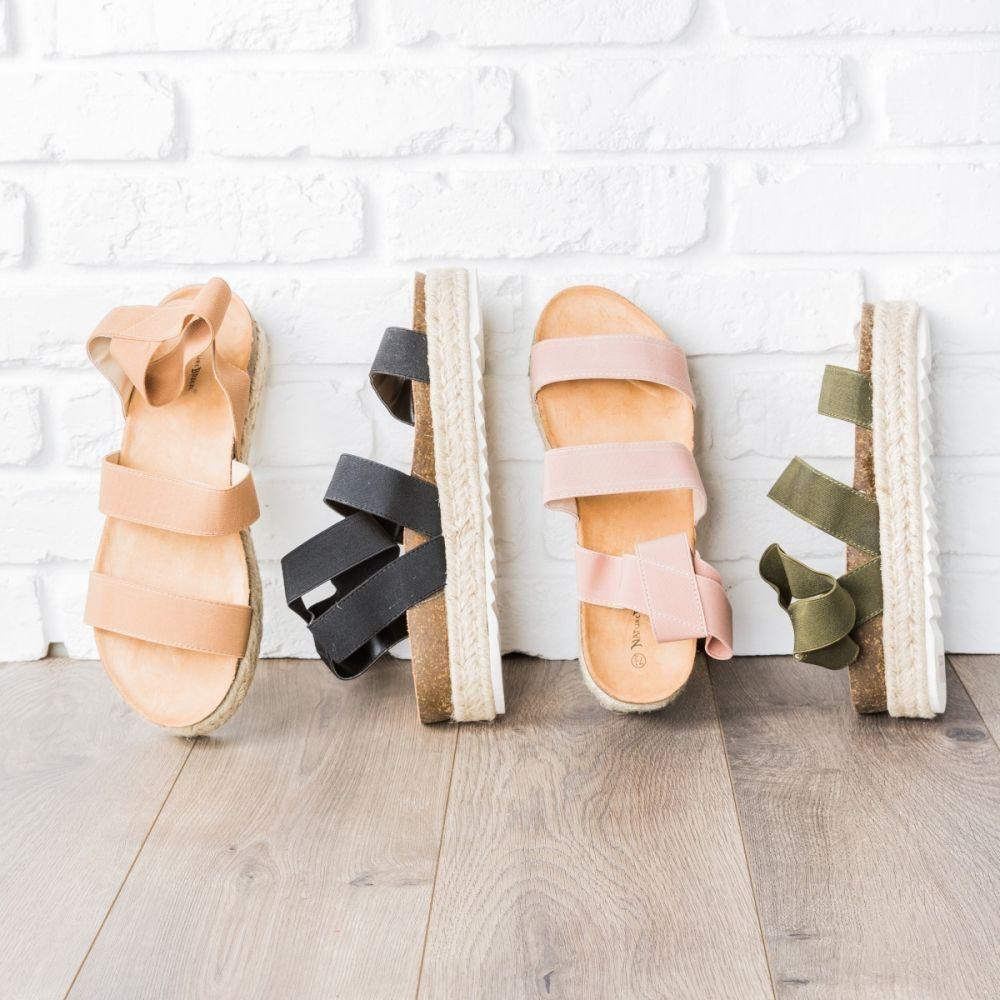 Stretchy Espadrille Platform Sandals 3