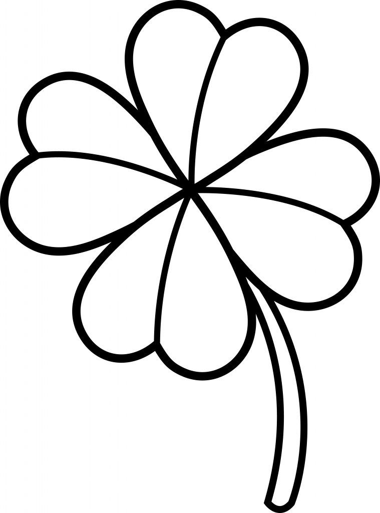 Four Leaf Clover Coloring Pages Coloring Pages Clover Painting