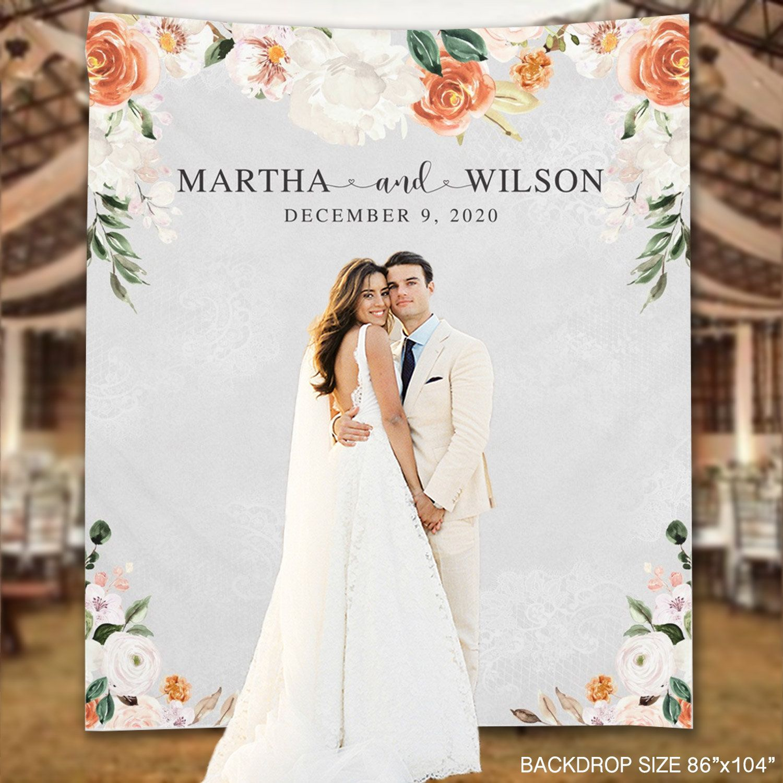 Wedding Backdrop Spring Flowers Custom Anniversary Banner Etsy Wedding Banner Wedding Backdrop Floral Wedding