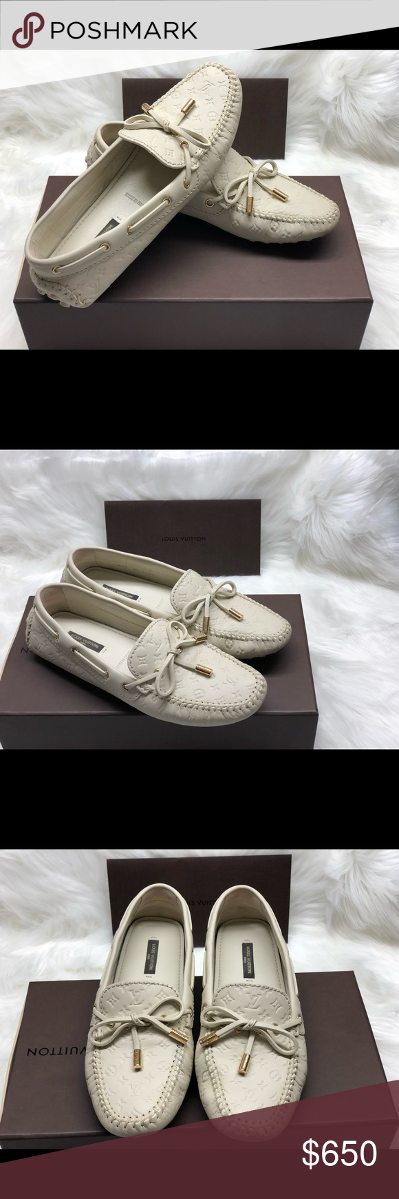 2ad5c1a0a465 ⭐️Louis Vuitton Gloria Flat Loafer ⭐️GLORIA FLAT LOAFER IN WHITE. ⭐️This  elegant
