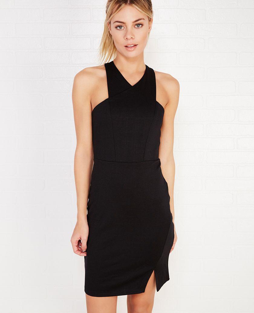 Crisscross Zip-Back Bodycon Dress | Wet Seal