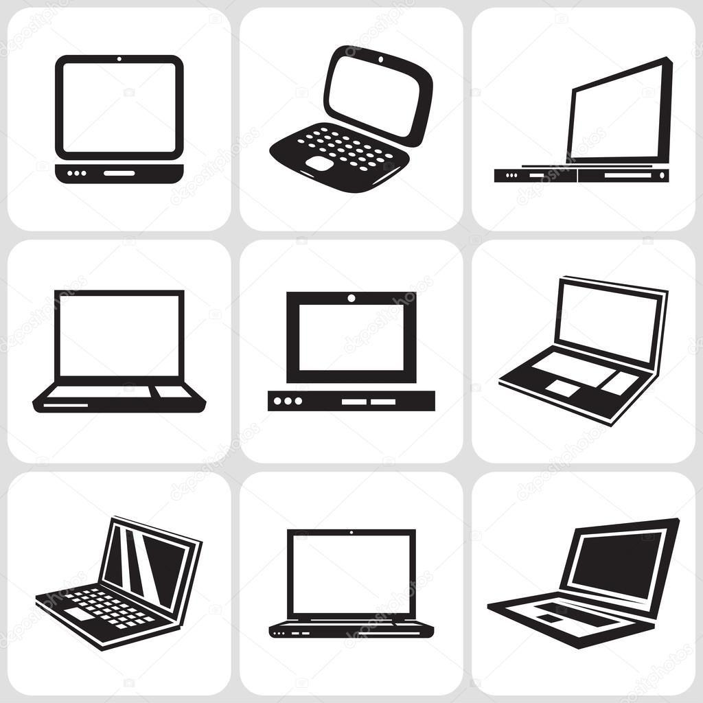 Epingle Par Aero Fit Sur Laptop Computer Dessin Ordinateur Ensembles D Icones Dessin Vectoriel