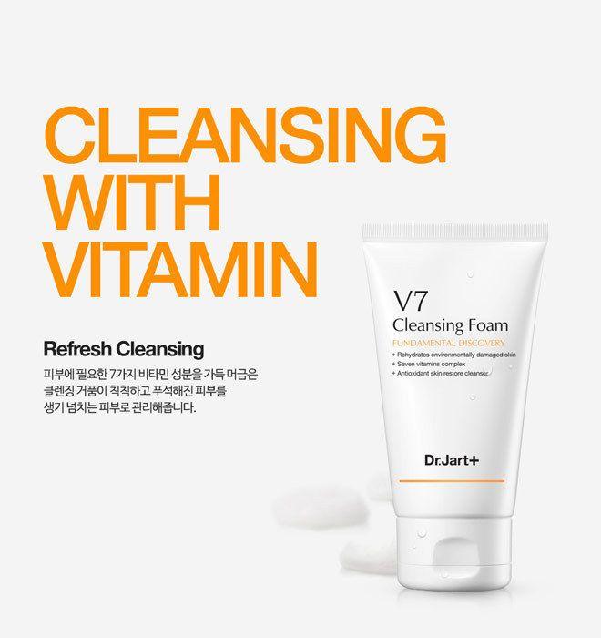Dr.Jart+ V7 Cleansing Foam 100ml Dermatologist Tested, Seven Vitamins Cleansing #DrJart