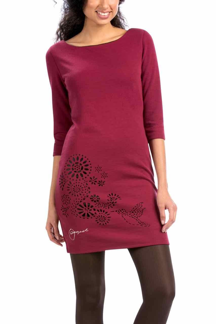 Desigual Dress Amaryllis, ruby wine | Desigual Dresses | Pinterest
