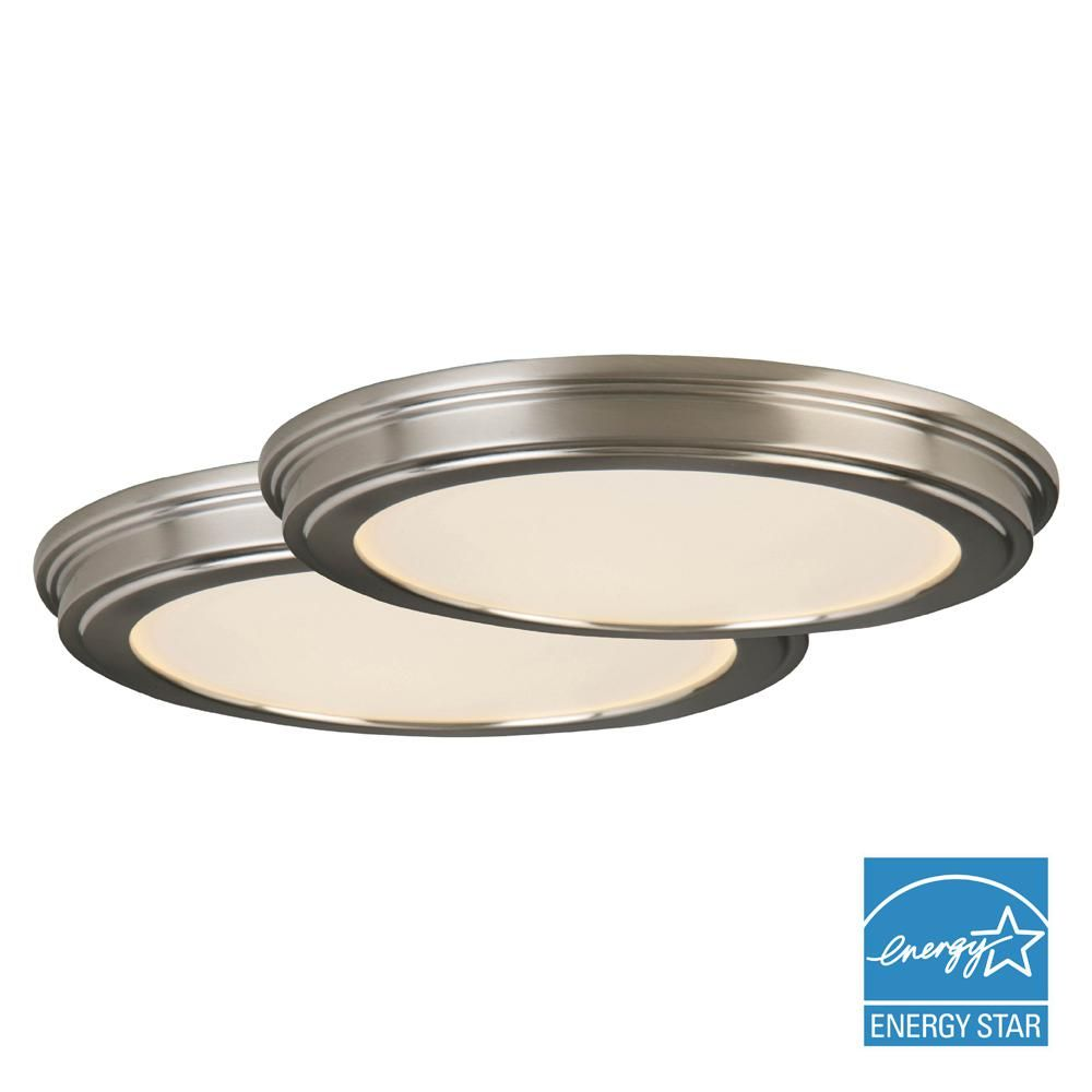 Commercial Electric 24 Watt Brushed Nickel Integrated Led Ceiling