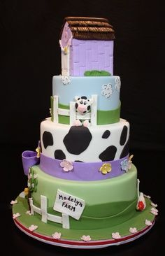 Awesome Farm Fresh With Images Kids Cake Farm Cake Fresh Cake Funny Birthday Cards Online Inifodamsfinfo