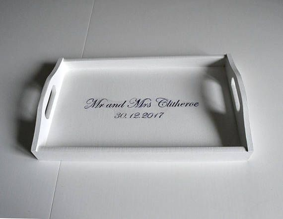 breakfast tray personalized serving trays white wooden tray custom