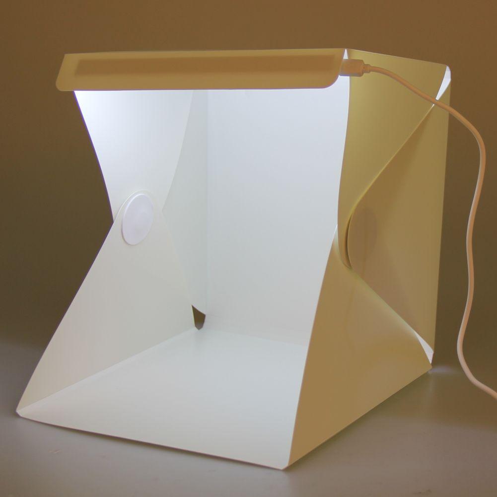 Portable Light Room Photo Backdrop Box With Led Light Mini Cube
