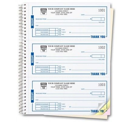Custom Receipt Books Printing Free Shipping Book Print Pinterest For Business Receipt Template