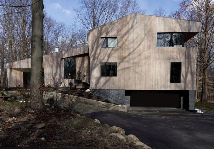 [Inspiration] Imposante maison contemporaine en bois aux formes originales (USA)