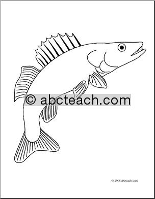 Walleye Fish Coloring Page Sketch Coloring Page Fish Coloring Page Coloring Pages Walleye Fishing