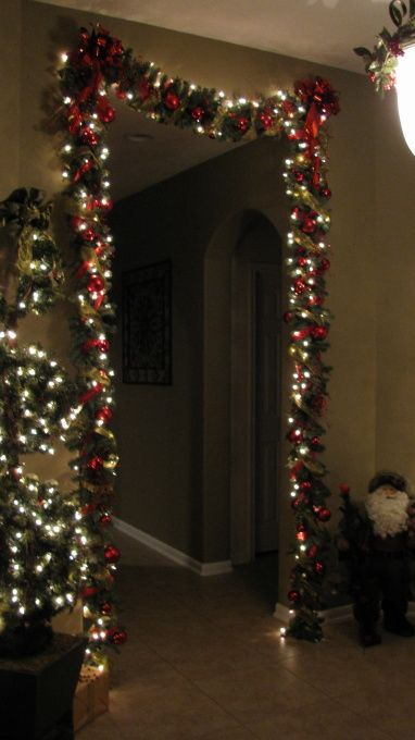christmas decoration ideashomedecorish i love doing this over doors beautiful entry way to hallway - Apartment Christmas Decorations
