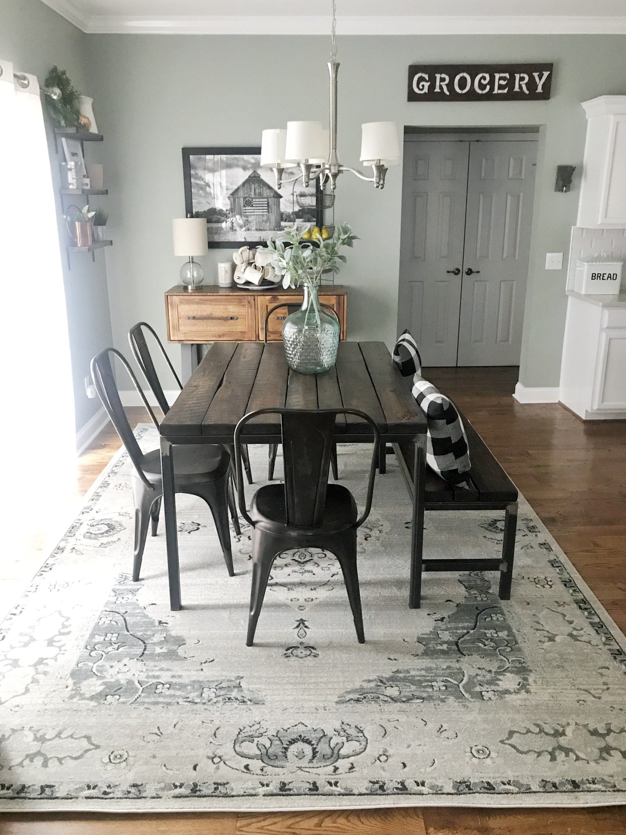 Farmhouse Dining Room, Farmhouse Style Dining Room Rugs