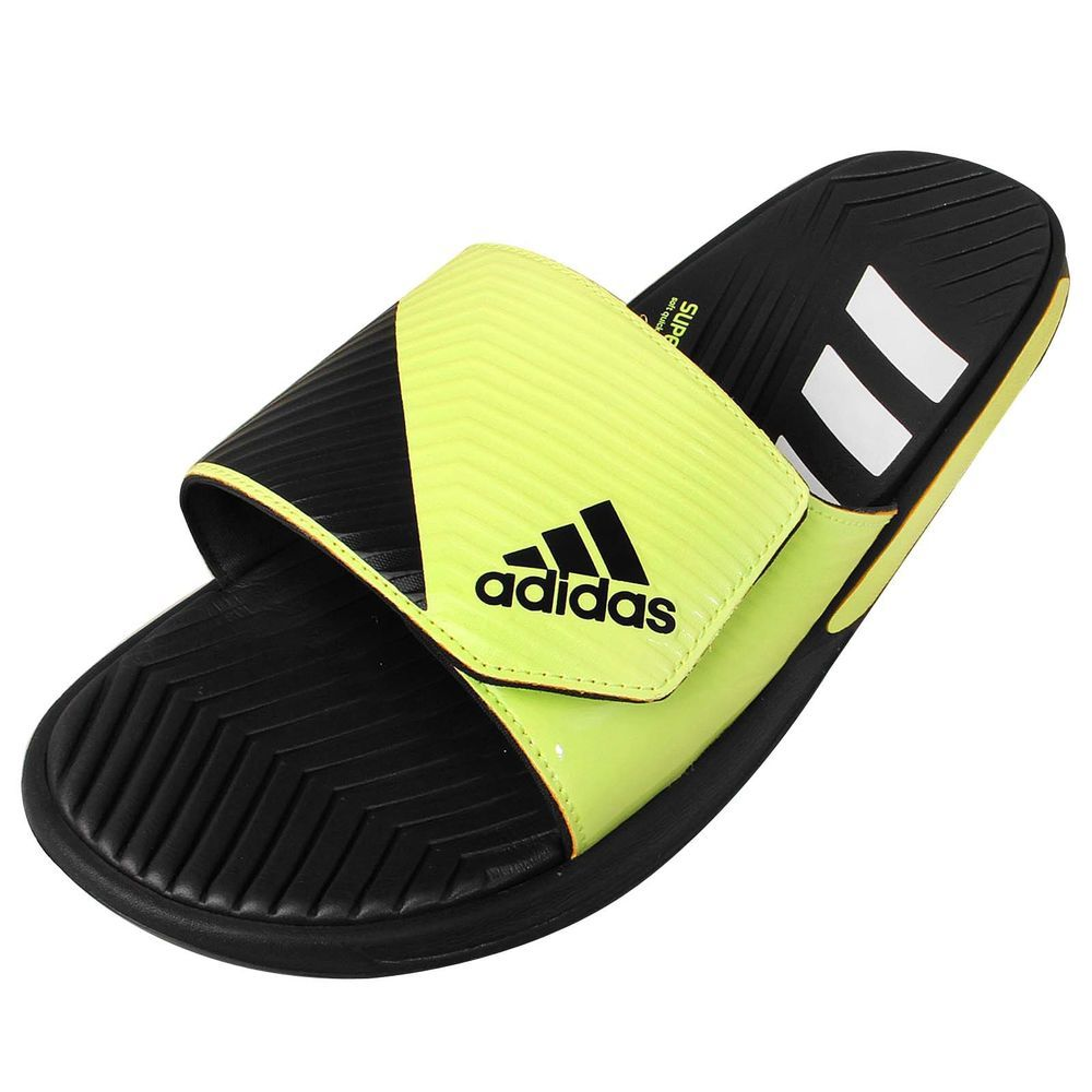 bc328e1a7e2ecb Adidas Predator Slide Grey Yellow 2015 Mens Slippers Sandal Shoes  http   www.