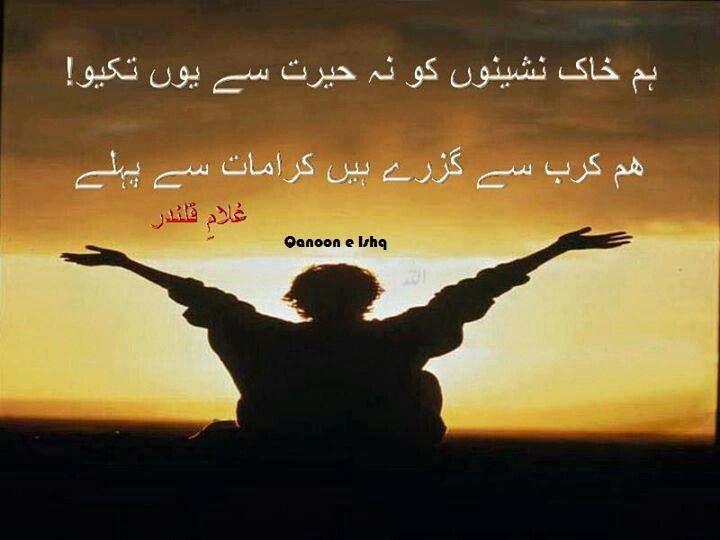 Hum Quote Interesting Hum Khaak Nasheeno Ko Na Hairat Se Yun Takyohum Karb Se Guzre Hein