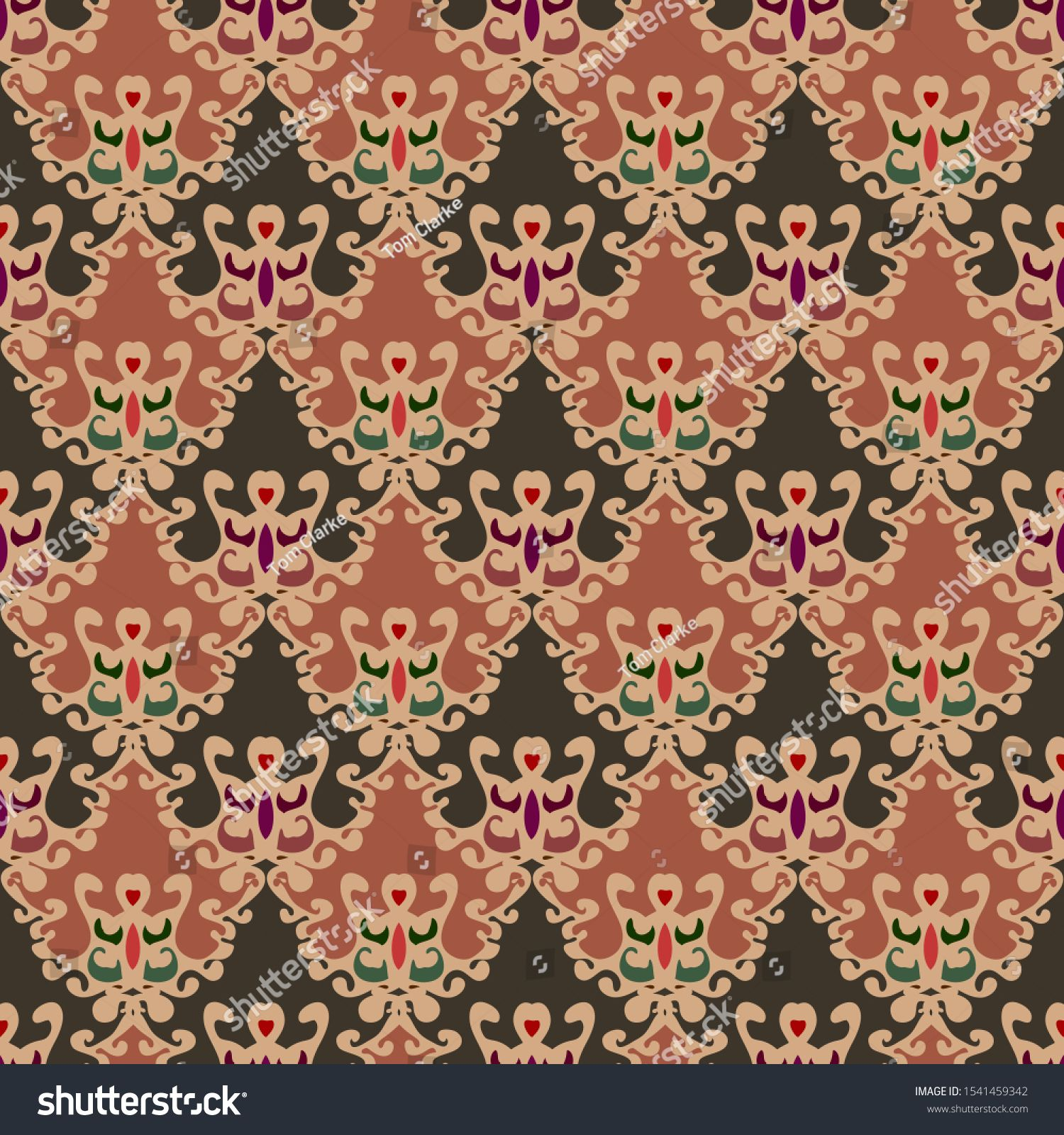 A virtual design print and pattern with refined fine decorative elementsn