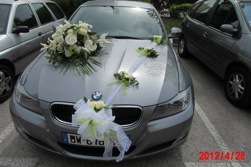 Decoration mariage bapteme etc voiture mariee - Decoration voiture mariage noir et blanc ...