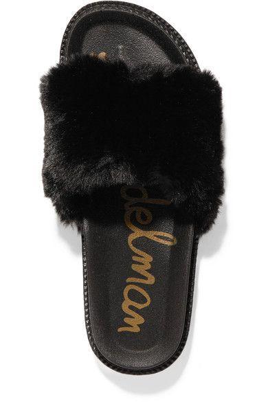 8c5cbbe49b97 Sam Edelman - Blaire Faux Fur Slides - Black