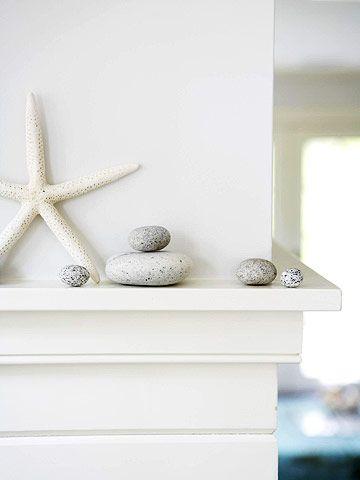 mantle with seashells
