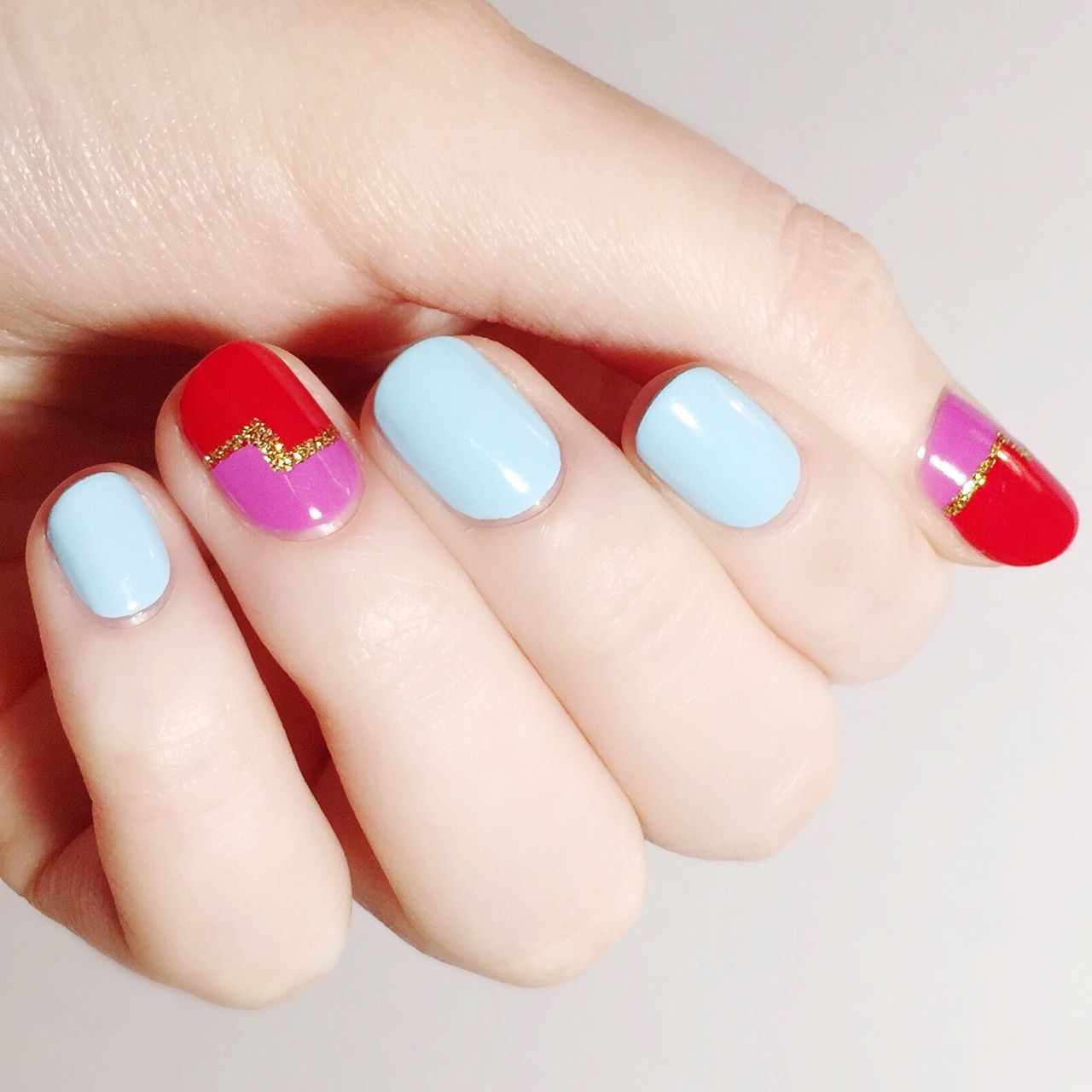 I ❤ NAILS BLOG — Two-toned nails inspired by Madeline Poole.