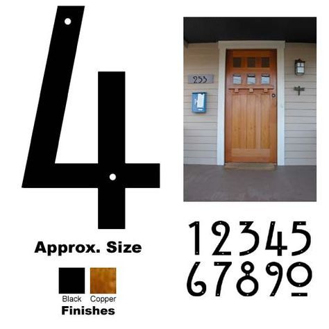 Craftsman Style House Numbers Craftsman Style Homes House Numbers House Letters