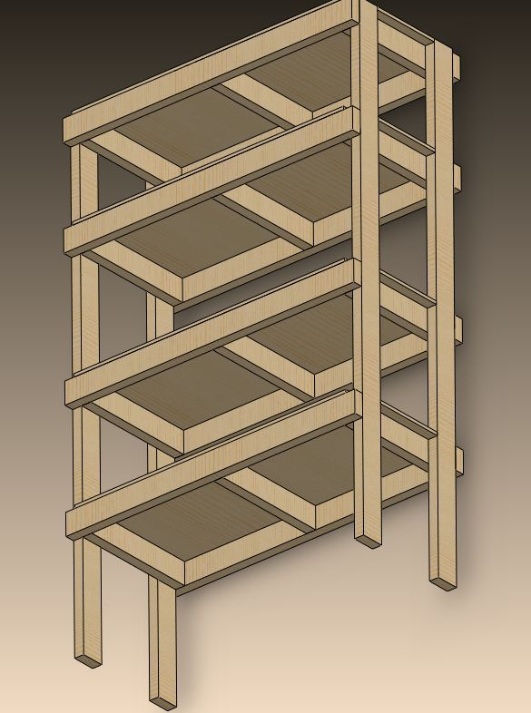 2x4 Storage Shelves Plans You Are Starting With 10 2 X 4 S And One 8 Section Of 1