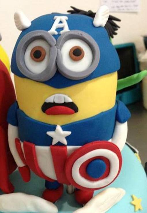 Marvelous Avengers Minions Mashup Cake Cake minion Minion cakes