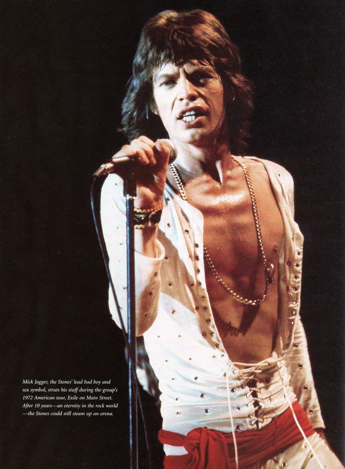 Mick Jagger Stage 1972 Rolling Stones