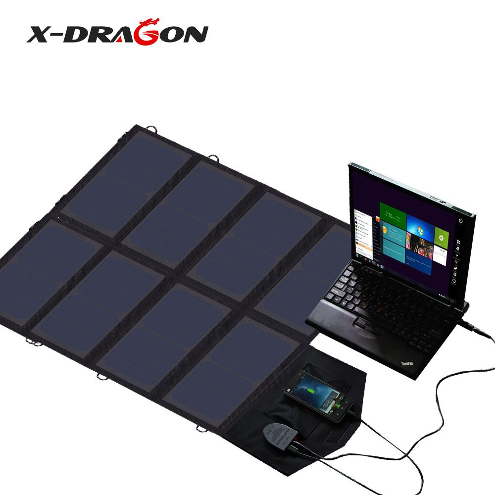 X Dragon High Power Portable Solar Panel Charger 5v 18w 40w Suit Charging For Phones Tablets 18v Laptops 12v Car Battery Portable Solar Panels Solar Panel Charger Solar Charger