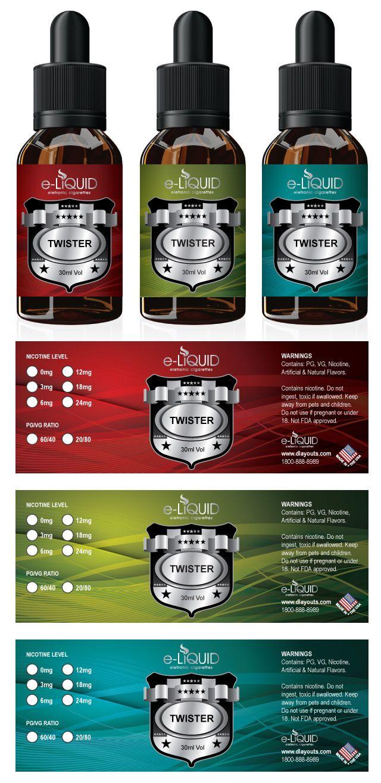 Dlayouts Professional Templates For Designer Label Templates Bottle Label Template Labels E juice bottle label template