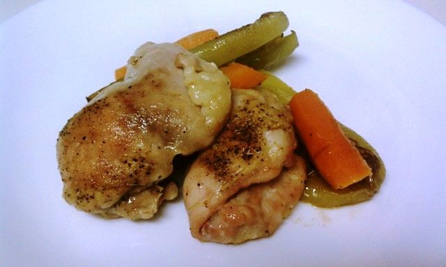 Chicken with cubanelle peppers