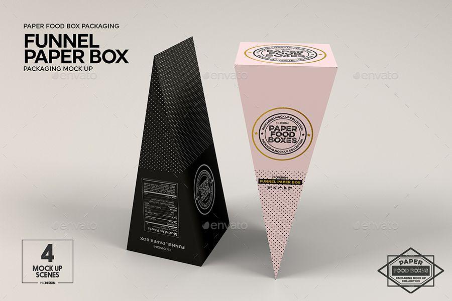 Download Funnel Paper Box Packaging Mockup Packaging Mockup Paper Box Box Packaging