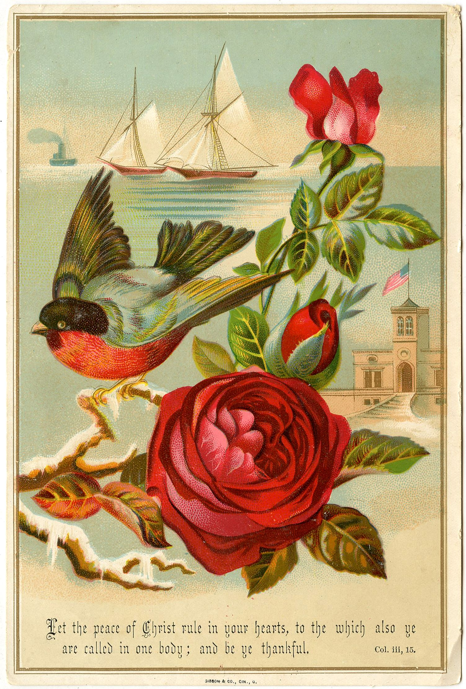 Victorian Valentine Birds Reproduction Quilt Block FrEE ShiPPinG WoRld WiDE