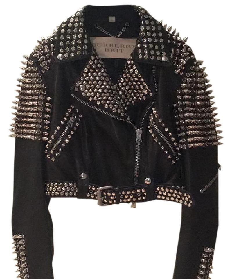 cb657b3e0 Black with Silver Spikes Studded Motorcycle Jacket in 2019 | Yikes ...