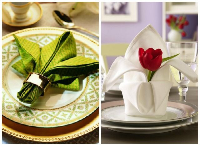 C mo doblar servilletas de papel y de tela de forma - Como doblar servilletas de tela ...