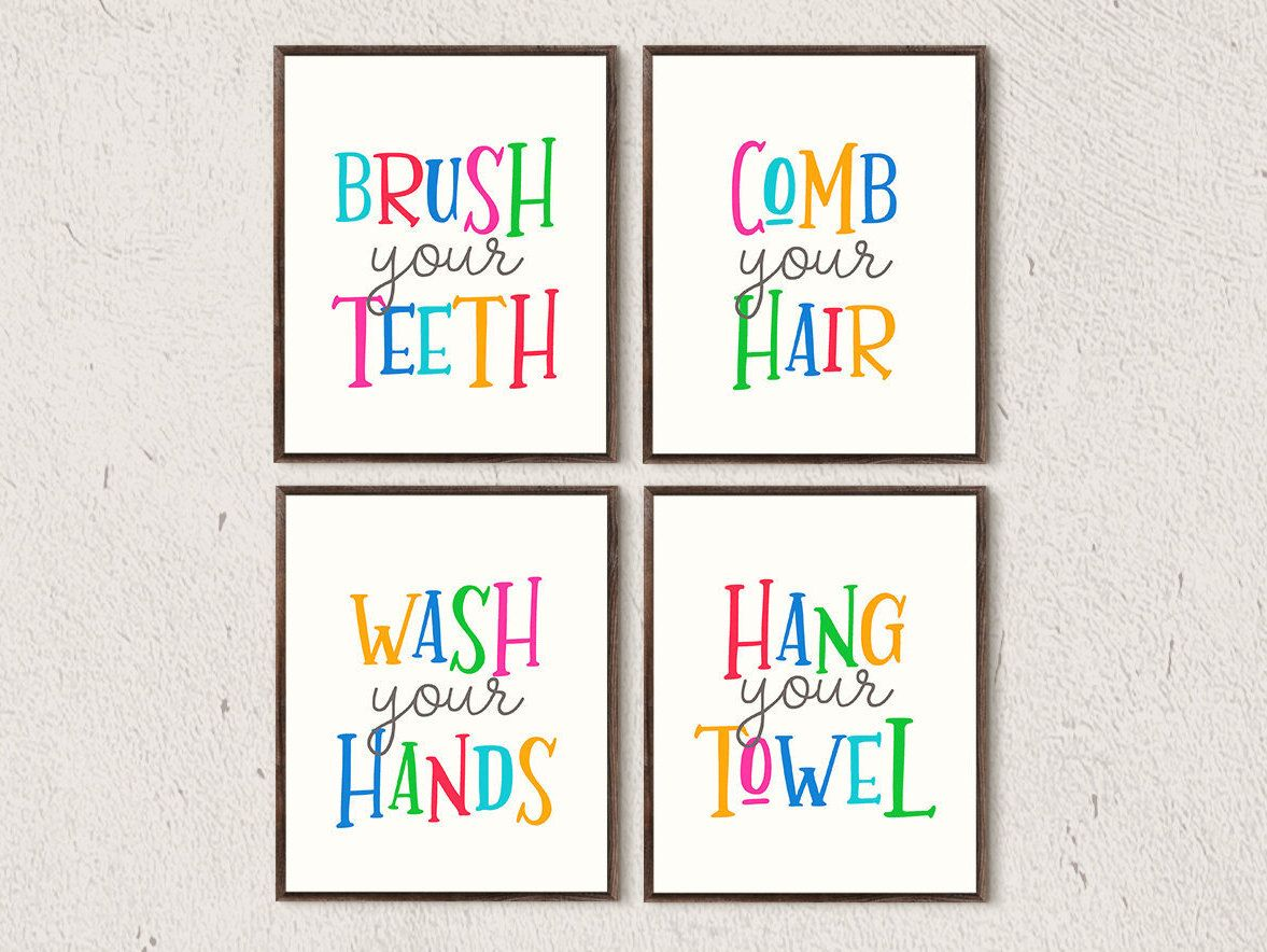 Kids Bathroom Wall Art Printable Bathroom Prints Kids Bathroom Etsy Kids Bathroom Wall Art Kids Bathroom Themes Kids Bathroom Artwork